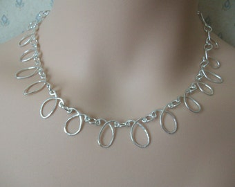 Sterling Silver Necklace. Hancrafted. Very Special Present. OOAK.