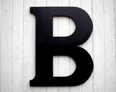 """Wooden Letters 30"""" B Black Wedding Guestbook Extra Large Gift"""