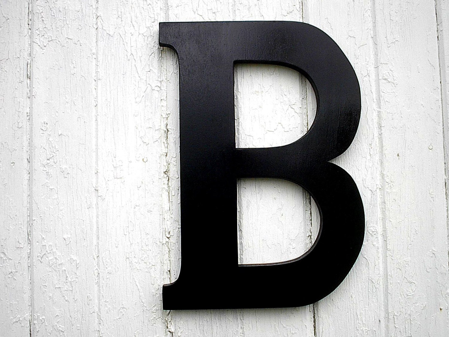 Rustic Letters Wall Decor : Black wooden letter b large modern rustic wall art