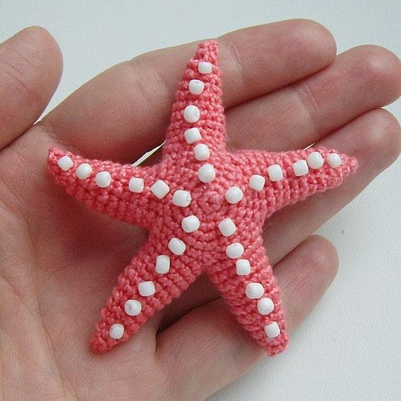 Amigurumi Starfish Pattern : PDF PATTERN Crochet flat amigurumi little toy