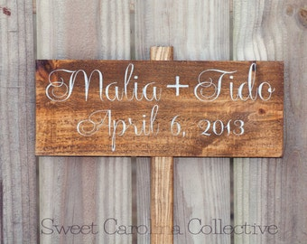 Ceremony Wedding Sign - Bride and Groom wedding sign - WS-45