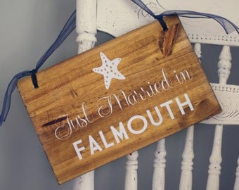 Custom Wooden Wedding Signs - JUST MARRIED - spring summer winter fall autumn chic outdoor wooden signage WS-25