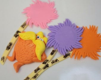 reserved listing Lorax, 6 flat trees, 6 stand up trees, CONNOR name sign, number 2