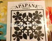 """Hawaiian quilt pattern """"Hawaiian Hibiscus"""" 20 inch x 20 inch"""