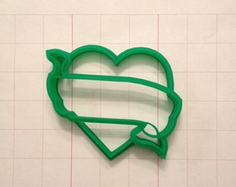 Heart w/ Banner Cookie Cutter.