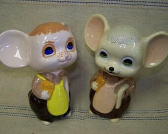 Mice Large Salt Pepper Mice Ceramic Mice Vintage Mice