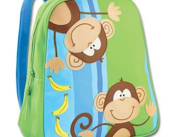 FREE PERSONALIZATION  Embroidered  Stephen Joseph Go Go Monkey Backpack SJ-1201-99