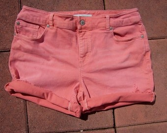 Vintage Chico's High Waisted Jean Shorts size US 15 1990's (S198)