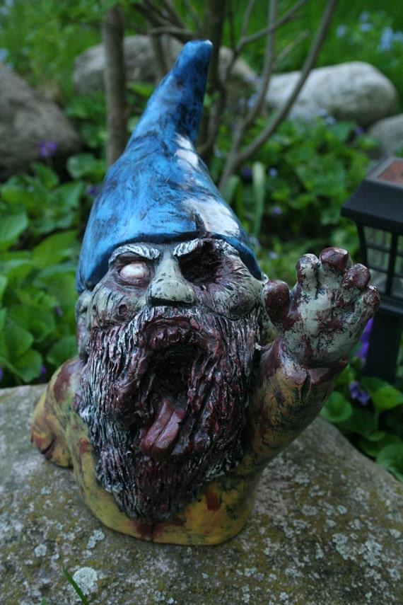 Gnome In Garden: Zombie Groundbreaker Garden Gnome