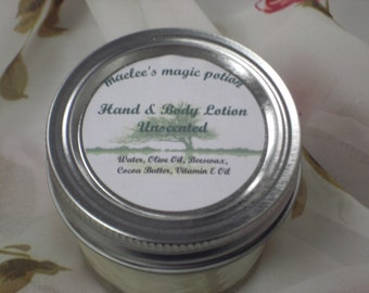 Unscented Hand & Body Lotion - 4 oz jar