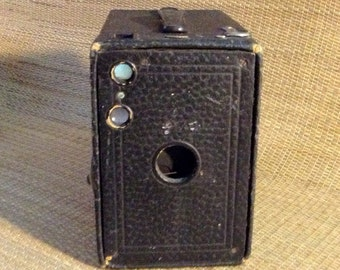 No. 2A Brownie Box Camera, Eastman Kodak Company, black body, c.1907