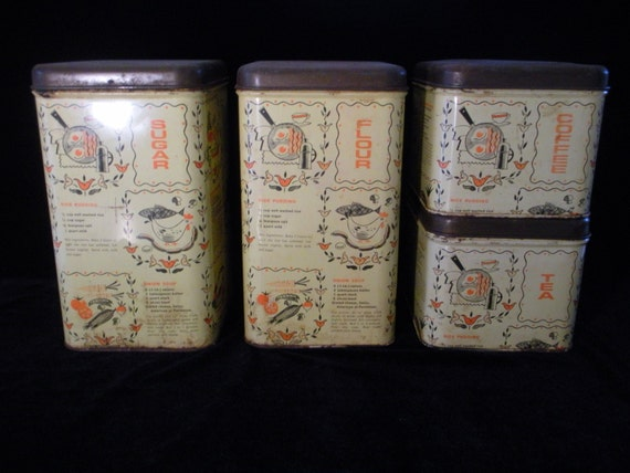 vintage funky collectible cheinco kitchen canisters set of 4 vintage 1970 s cannister set with fantastic funky