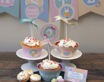 Easter -  Cupcake Wrappers - Printable - psDre Party Printables