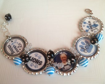 Custom Cheer Mom Bracelet
