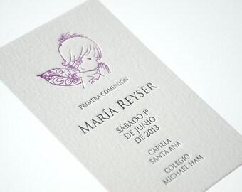 Letterpress Baptism & Christening Cards