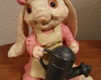 Bunny Rabbit with a Watering Can