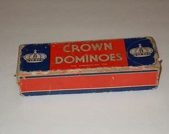 Crown Dominoes - The Embossing Co., Albany NY USA