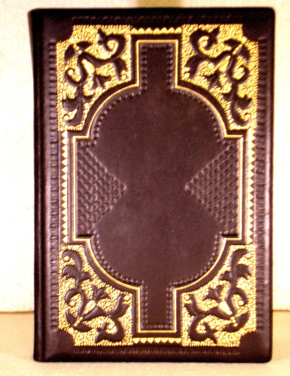 Black Leather Book Cover : Leather journal blank book black a medieval