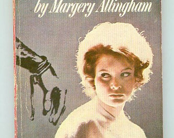 Police At The Funeral by Margery Allingham Vintage Paperback Pulp Cover Mystery