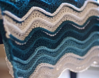 Crochet Pattern Waves : Popular items for wave blanket on Etsy