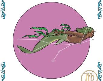 Mermaid zodiac - Virgo