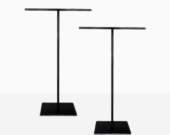 Tall Steel Necklace T-Stand (Set of Two) - Jewelry Holder - Metal Necklace Display