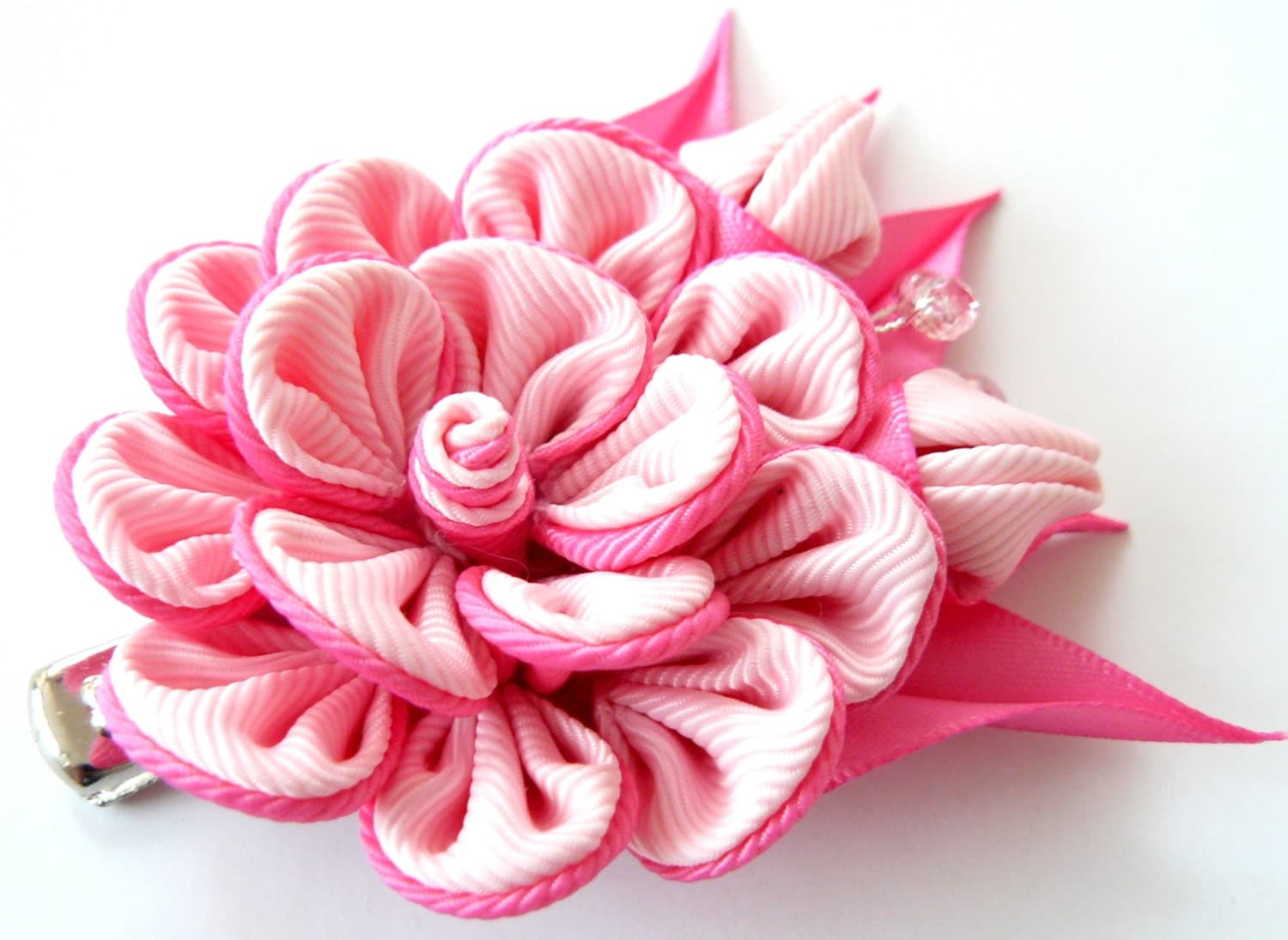DIY Fabric Flower Hair Clips   The Crafting Nook   Fabric Hair Flowers Tutorial
