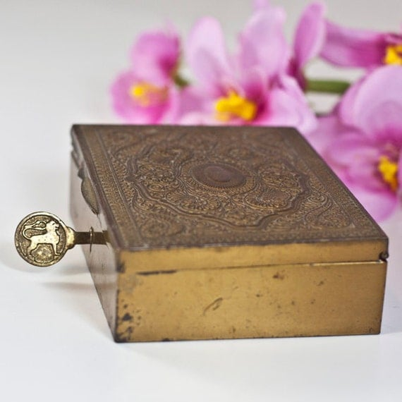 Jewelry Box with a Lock & Key Hindu-Persian Trinket