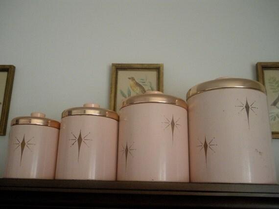 Vintage Atomic Starburst 1950 S Rare Ransburg Pink Metal