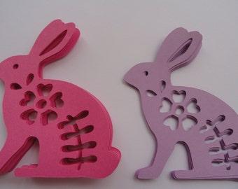 Easter Bunny Die Cuts Set of 12
