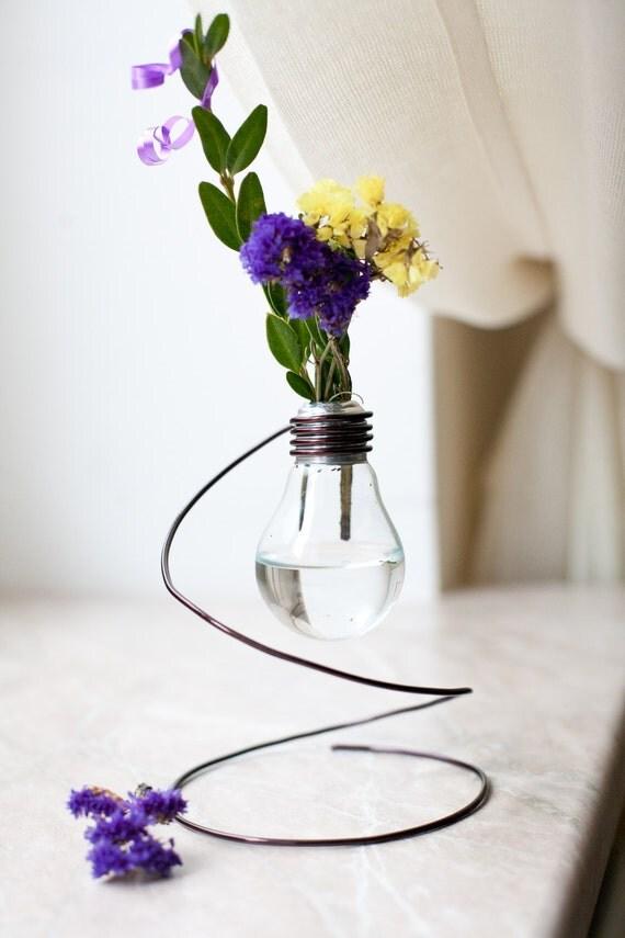 Vase Vintage recyclés ampoule