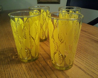 SALE Yellow Leaves Glasses
