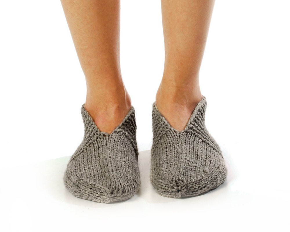 Knitting Women S Socks : Men slipper socks pleasant evening hand knitted