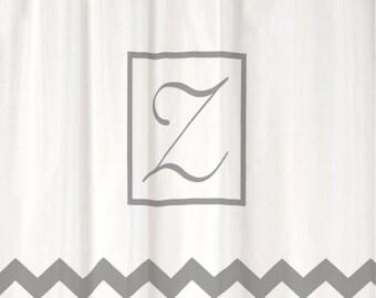 Monogrammed shower curtain – Etsy