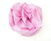 Pink Cotton Scarf. Pastel Pink, handdyed, Womens Shoulder Neck or Head Scarf.