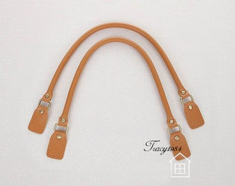 23 inch Synthetic Leather Bag Handles (Tan) F006