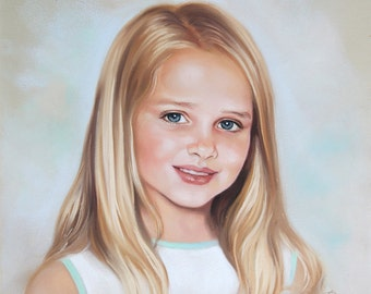Custom pastel portrait - Painting from photography