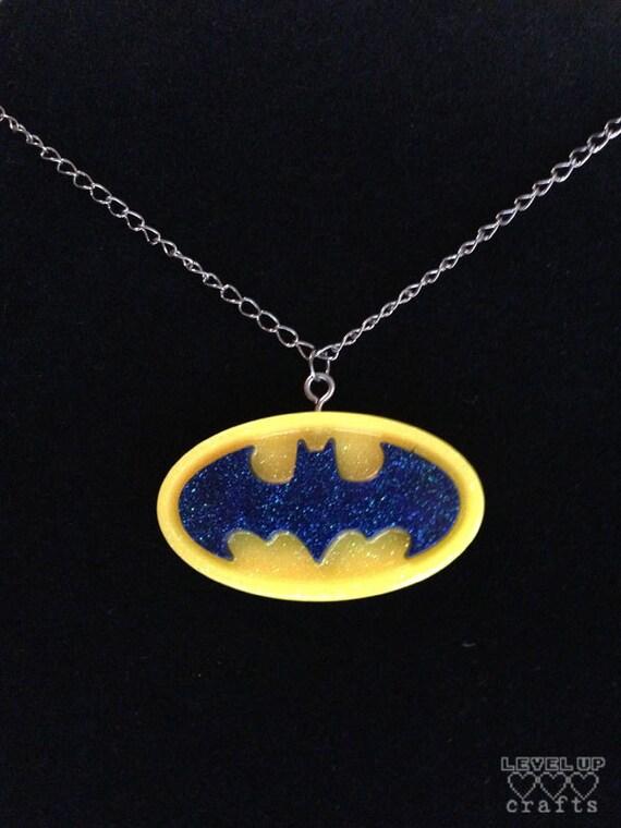 Glow in the Dark Batman Logo Necklace