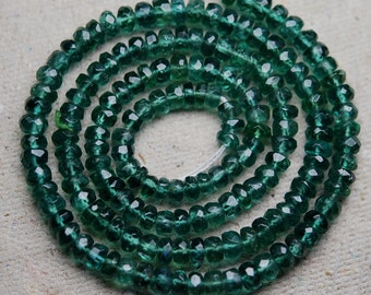 14 Inches Super Finest Quality --AAA-- GREEN APATITE Size 3.5-4mm Manufacturers Price Item