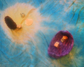 CUSTOM Landscape silk - desert island, seascape, or sky with sun