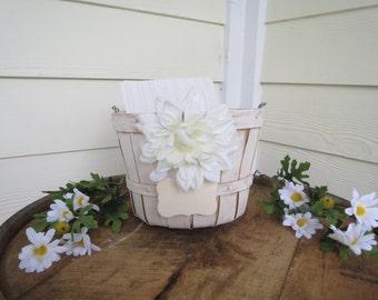 Rustic Wedding Card Basket OR Wedding Program Basket