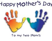 Happy Mothers Day- To my Two Moms greeting card