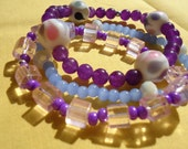 Purpley Trio Stacking Bracelets