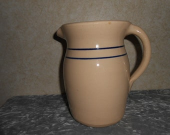 R. Storie Pottery Large Milk Pitcher  -  Marshall, Tex.