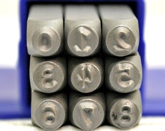 Kristen Font Metal Stamp Number Set- 3MM Metal Number Set- Great Tool For Metal Stamping And Jewelry Design- SGE-2N