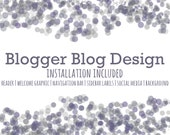 Custom Blogger Blog Design. Installation Included.