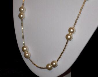 Handmade Weddings Pearl Necklace Bridesmaid Gift