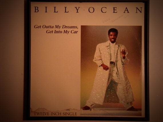 Glittered Record Album - Billy Ocean - Get Outta My Dreams, Get Into My Car