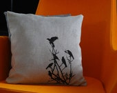 Birds in a Bush Pillow Case ON SALE - AMorbidTale