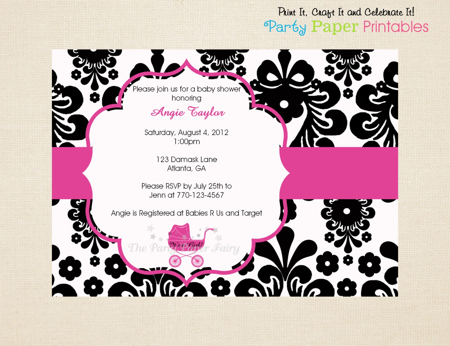 free printable baby shower invitations black and white - 28 images ...